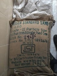 Brown Standard Sand : Grade II, For Construction, Packaging Size: 25 Kg