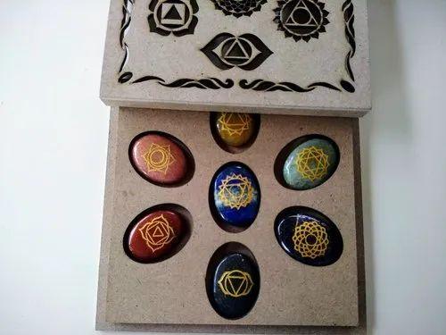 Seven Chakra Bonded Engraved Chakra Symbol Angel Healing Wand Aura Cleansing