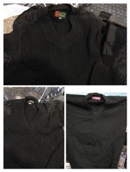 Men Black Security Sweater