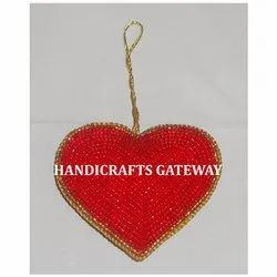 Heart Shape Beaded Christmas Tree Ornament