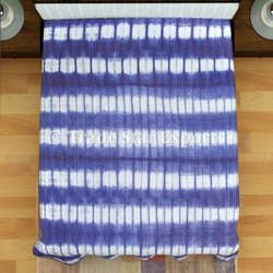 Handmade Tie Dye Kantha Quilt Indigo Shibori Embroidered Bed Cover Handmade Kantha Quilts