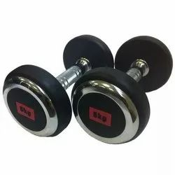 MS Iron Fixed Powder Coated Dumbbells, Weight: 2.5 Kg Upto 40 Kg