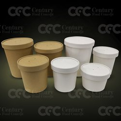 greendale White Food Delivery Paper Container, For Packaging, Capacity: 250ml