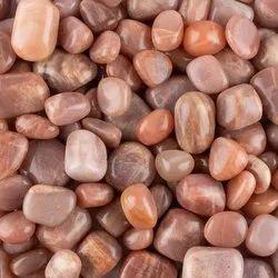 Natural Peach Moonstone Gemstones Tumbles