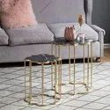 Iron Marble Side Tables Set Of 2