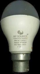 铝和陶瓷圆9瓦直流LED灯泡