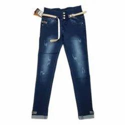 Casual Wear Stretchable Girls Denim Jeans, Handwash