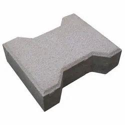 Concrete I Shaped Interlocking Pavers Block, For Flooring, Thickness: 60mm