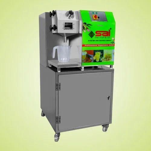 Sai Enterprise SC-01 Sugarcane Juice Machine With Dustbin