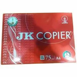 White JK Copier Paper, Packaging Size: 500 Sheets per pack, Size: A4