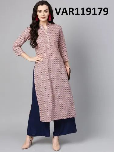 Multi Colour Cotton Kurtis