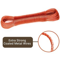Plain Red and Golden PVC Cloth Wires, Thickness: 4 Mm