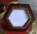 Wooden Mirror Frame With Metal Fitted