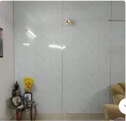 White UV Coated PVC Wall Panel, Shape: Rectangle, Size: 8 X 4 Feet