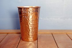 Copper Hammered Tumbler, Capacity: 16 Oz