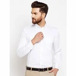 Mens White Cotton Shirt