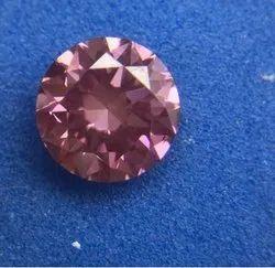 Pink Diamond 0.51Ct & 0.66Ct Fancy Intense Pink Vs2 Round Brilliant Cut IGI Certified