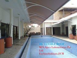 Tensile Roof Structure Swimming pool area coverage