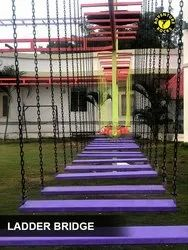 High Durability Iron Ladder Bridge Material:- Iron, Steel & Wood (Rope Course Element)