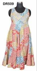 Cotton Hand Block Printed Women's Patch Work Long Dress Dr509