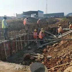 RCC Machin Foundation Construction