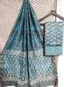 Bagru Hand Block Print Chanderi Dress Materials