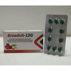 Broadvit 12G Capsules, Packaging Type: Box, Grade Standard: Medicine