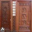 Carving Wooden Door