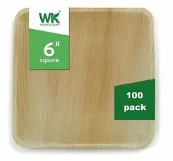 WOODYKRAFT  6 inch Areca Leaf Plate Eco Friendly, Dinnerware Plates , Natural and Biodegradable