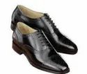Lace Up Black Men Leather Shoes, Size: 6-11