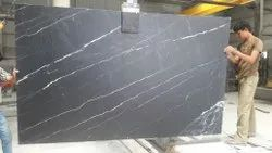 Slab Black Marble Stone Tiles, Thickness: 20 mm