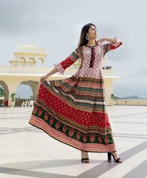Jaipuri Printed Long Gown