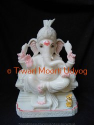 White Marble Ganesh Moorti