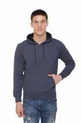Fleece Hooded Blended Sweatshirts For Men