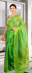 Ladies Green Casual Saree