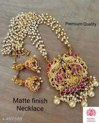 Golden Brass Jewellery Set