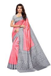 Joya Silk Fancy Printed Saree With Blouse