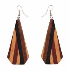 Wooden Earrings Girls Stylish Latest