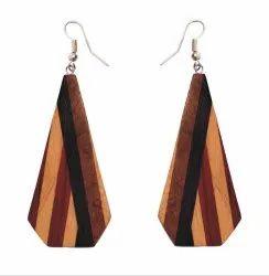 Wooden Earrings Girls Stylish Latest