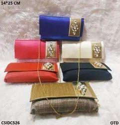Designer Raw Silk Clutch Bag