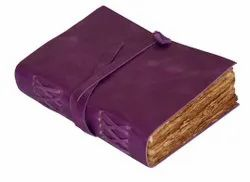 Leather Cover Journal With Deckle Edge Handmade Paper