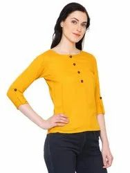 Yash Gallery Womens Casual Solid Top