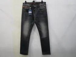 Mens Grey Colour Slim Fit StretchJeans(PW-05A)