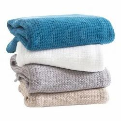 100% Pure Woven Cotton Blanket