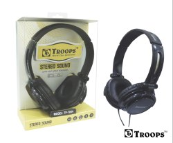 Troops Tp-7044 Stereo Sound Headphone