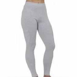 703c68ff85511 Cotton Casual Wear Ladies Light Grey Plain Leggings, Rs 115 /piece ...