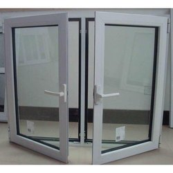 Grey Modern Double Aluminium Casement Windows, For Residential, Size/Dimension: 3 X 5 Feet