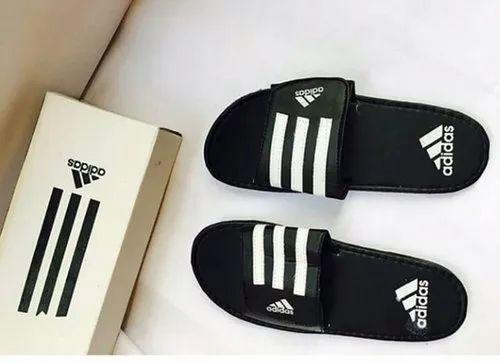 Men Black Adidas Flip Flops, Size: 41