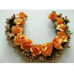 Orange Flower Hair Brooch