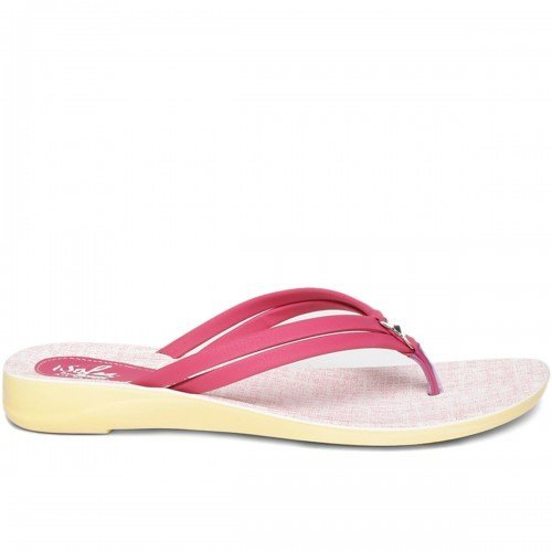 7feb8819dcac Paragon Women Pink And White Solea Flip-Flops Sleeper